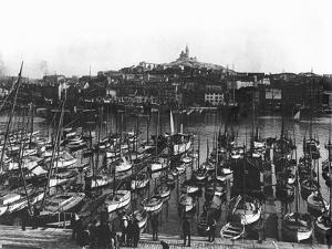 The Old Port and Notre-Dame De La Garde at Marseille, C.1900