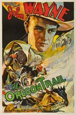 The Oregon Trail, (Poster Art), John Wayne, 1936