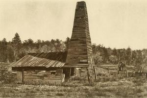The Original 1859 Drake Oil Well in Titusville, Pennsylvania, the 1st Ever Drilled in the U.S