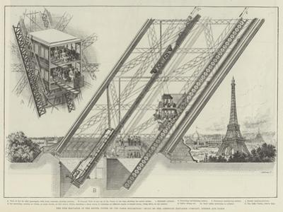The Otis Elevator in the Eiffel Tower of the Paris Exhibition