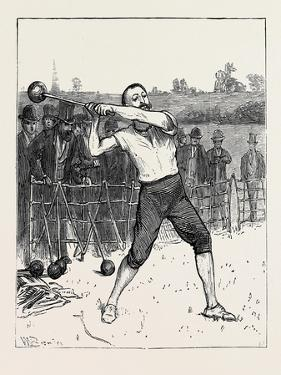 The Oxford and Cambridge Athletic Sports: Throwing the Hammer, UK