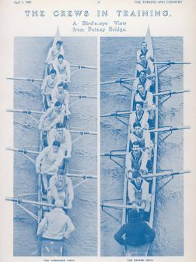 The Oxford and Cambridge Crews in Training: a Bird's Eye View from Putney Bridge