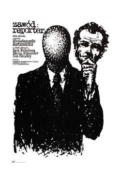 The Passenger, (aka Professione), Polish Poster Art, 1975