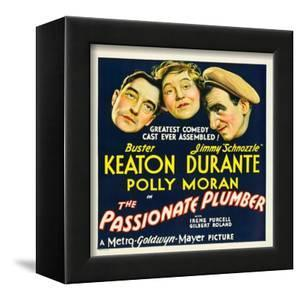 THE PASSIONATE PLUMBER, from left: Buster Keaton, Polly Moran, Jimmy Durante, 1932.