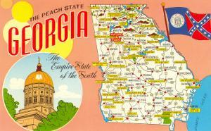 The Peach State, Georgia, Map