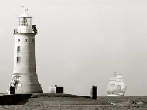 The Period Italian Sail Ship Amerigo Vespucci Under Full Sail Approaches Plymouth Sound, Aug 1967