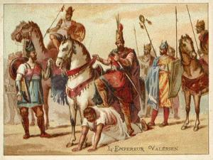 The Persian King Shapur I Using the Captured Roman Emperor Valerian as a Footstool, C260