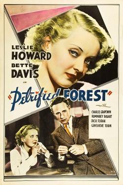 THE PETRIFIED FOREST, top: Bette Davis, bottom from left: Bette Davis, Leslie Howard, 1936.