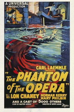 The Phantom of the Opera Movie Lon Chaney 1925 Plastic Sign