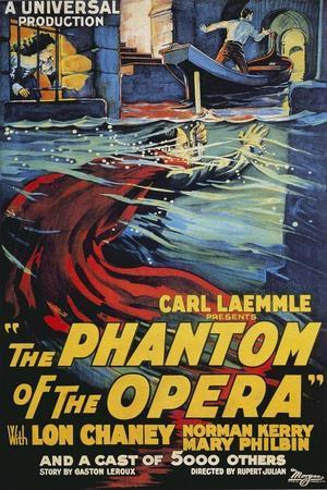 "Phantom of the Opera c.1943-24/""x36/"" Giclee Canvas Classic Movie Poster"