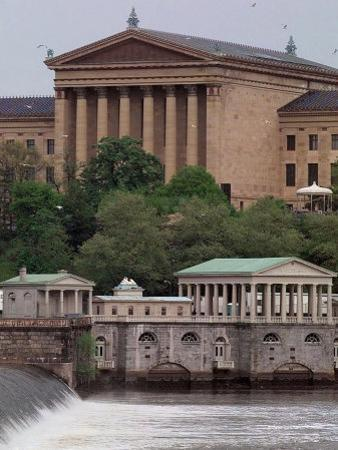 The Philadelphia Museum of Art Looms Above the Fairmount Water Works