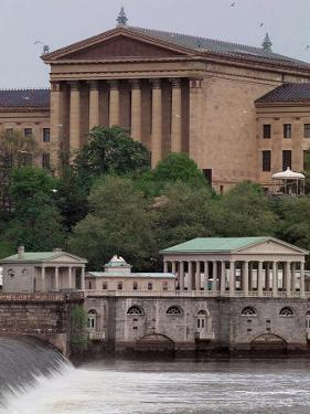 Philadelphia pa posters for sale at allposters the philadelphia museum of art looms above the fairmount water works malvernweather Choice Image