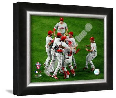 The Philadelphia Phillies celebrating Game Five of the 2008 NLCS