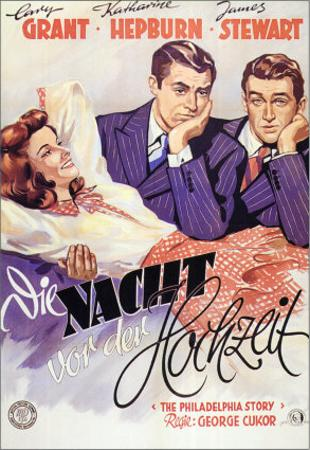 The Philadelphia Story, German Movie Poster, 1940