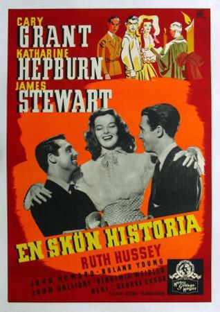 The Philadelphia Story, Swedish Movie Poster, 1940