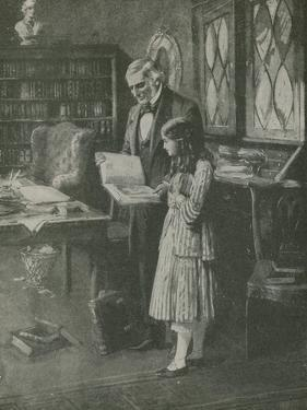 The Philosopher and the Little Girl Among the Books