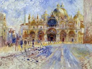 The Piazza San Marco, Venice, by Pierre-Auguste Renoir