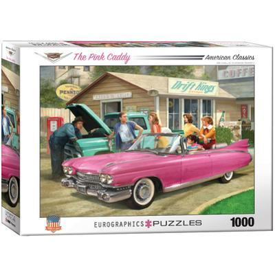 The Pink Caddy by Nestor Taylor 1000 Piece Puzzle