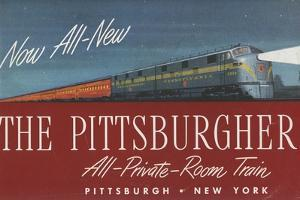 The Pittsburgher', Advertisement for the Pennsylvania Railroad Company, C.1948
