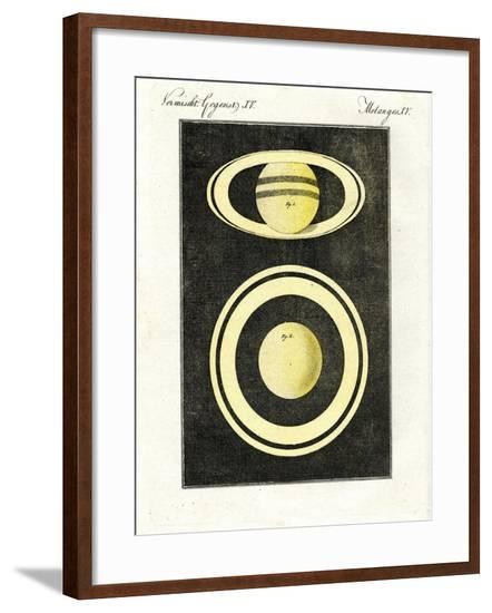 The Planet Saturn and its System of Rings--Framed Giclee Print