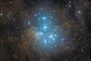 The Pleiades, an Open Star Cluster in the Constellation of Taurus