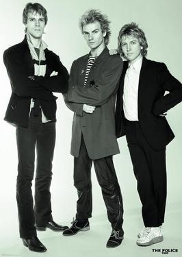 The Police- Sting, Andy Summers And Stewart Copeland, Studio 1980