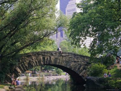 The Pond, Central Park, New York, USA by I Vanderharst