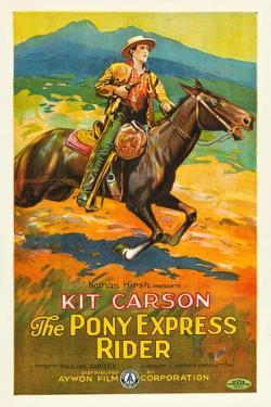 THE PONY EXPRESS RIDER, William Barrymore aka Kit Carson on US poster art, 1926