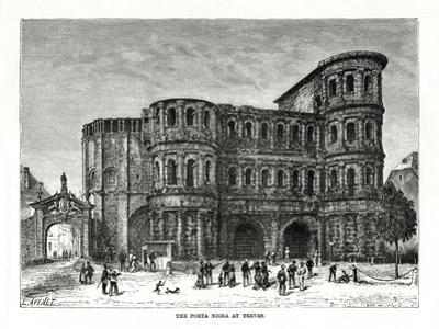 The Porta Nigra, Trier, Germany, 1879 by L Avenet