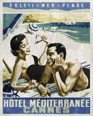 Vintage Travel Cannes by The Portmanteau Collection
