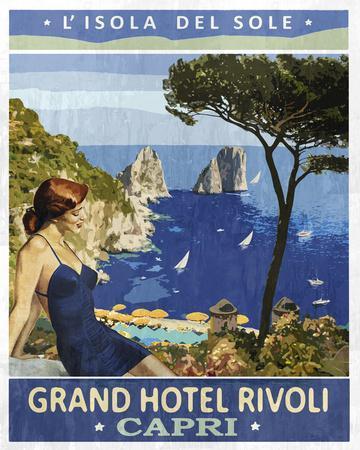 Vintage Travel Capri