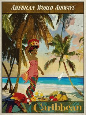 Vintage Travel Caribbean by The Portmanteau Collection