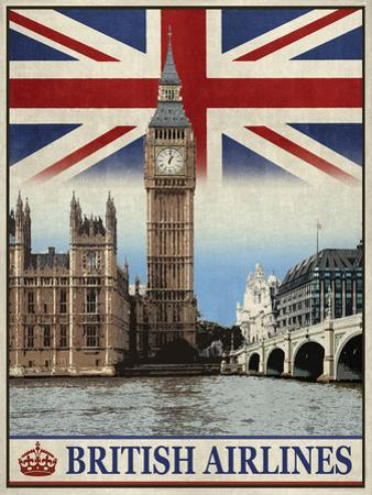 Vintage Travel London by The Portmanteau Collection