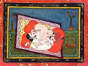 'The Posture of the Crow' from the Kama Sutra, Ecstatic Oral Intercourse Between a Prince and a…