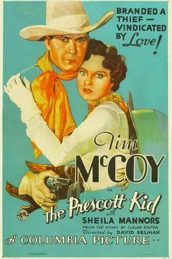 THE PRESCOTT KID, from left: Tim McCoy, Sheila Mannors (aka Sheila Bromley), 1934.