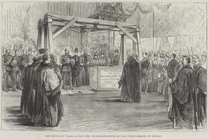The Prince of Wales Laying the Foundation-Stone of the Tower Bridge on Monday