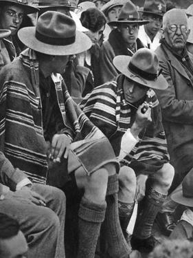 The Prince of Wales with the Welsh Scouts, 1926