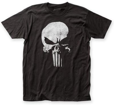 The Punisher- Distressed Half Skull Emblem