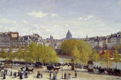 The Quai Du Louvre in Paris by Claude Monet