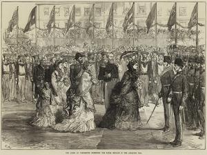 The Queen at Portsmouth Inspecting the Naval Brigade of the Ashantee War
