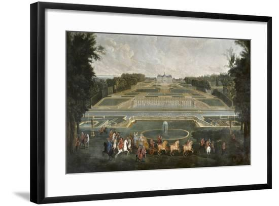 The Queen Marie Lescszinska Visiting Vaux Le Vicomte by Jean-Baptiste Martin--Framed Giclee Print