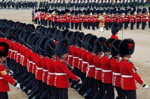 The Queen's Annual Birthday Parade Trooping the Colour, Horse Guards Parade at Whitehall, London