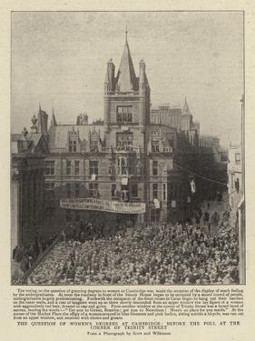 The Question of Women's Degrees at Cambridge, before the Poll at the Corner of Trinity Street