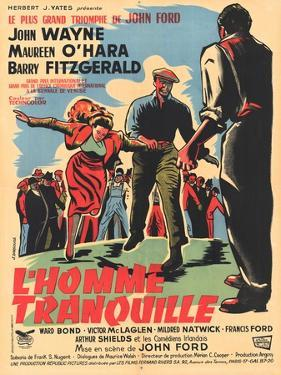 The Quiet Man, French Movie Poster, 1952