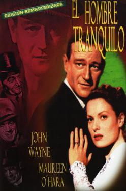 The Quiet Man, Spanish Movie Poster, 1952