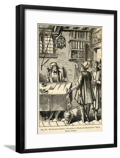 The Receiver of Taxes, 16th Century--Framed Giclee Print
