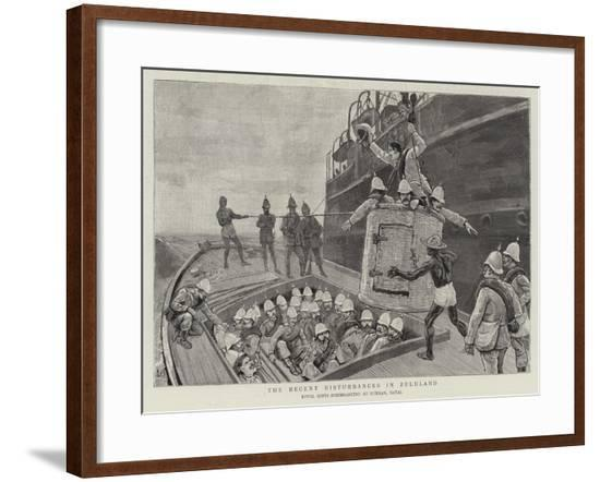 The Recent Disturbances in Zululand--Framed Giclee Print