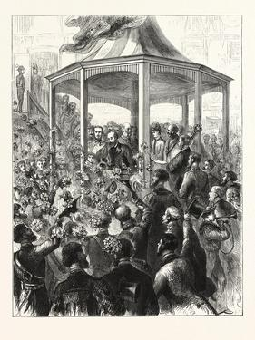 The Reception at the Pavilion, Portsmouth Dockyard, a Floral Display, 1876, Uk