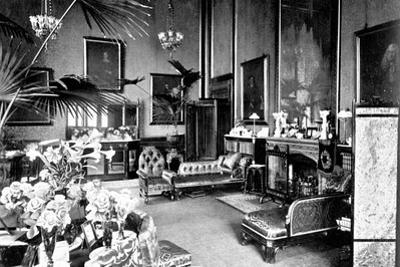 The Red Drawing Room in the Speaker's House, Palace of Westminster, London, C1905