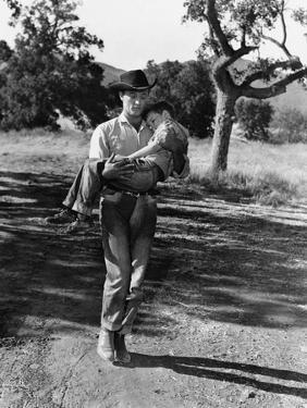 The Red Pony, Robert Mitchum, Carrying Peter Miles, 1949